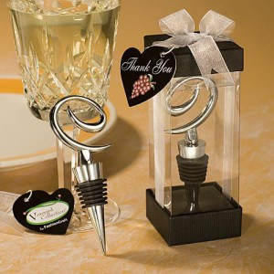 Vineyard Collection Swirl Design Wine Stoppers wedding favors