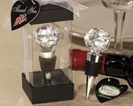 Vineyard Collection Crystal Ball Design Wine Stoppers wedding favors