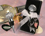 Vineyard Collection Shell Design Wine Stopper Favors wedding favors