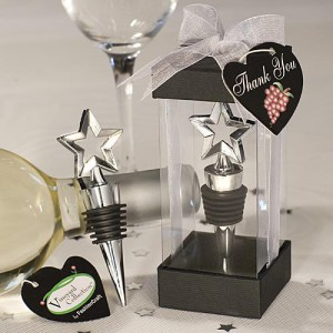 Vineyard Collection Star Design Wine Stoppers wedding favors