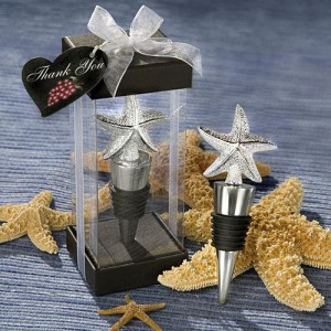 Elegant Starfish Design Bottle Stopper Favors wedding favors