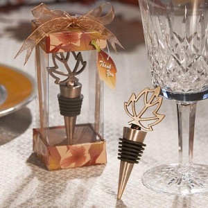 Autumn Themed Wine Bottle Stopper wedding favors
