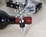 Elegant Snowflake Design Wine Bottle Stopper Favors wedding favors