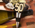 50th Anniversary Wine Bottle Stopper Favors wedding favors