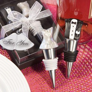 Bride And Groom Wine Stopper Set wedding favors