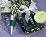 Shamrock / Trinity Love Knot Bottle Stoppers wedding favors
