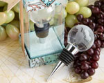 Glass Globe Design Wine Bottle Stopper Favors wedding favors