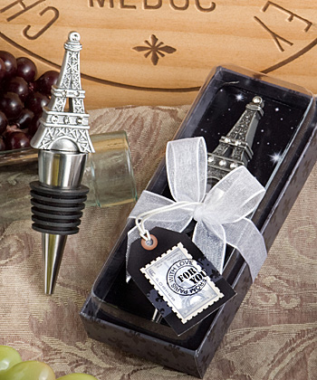 From Paris With Love Collection Eiffel Tower Wine Bottle Stopper Favors wedding favors