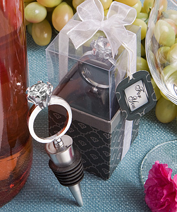 Diamond Ring Wine Bottle Stoppers wedding favors