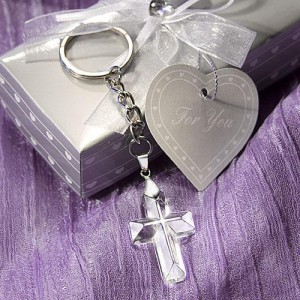 Choice Crystal Cross Key Chains wedding favors