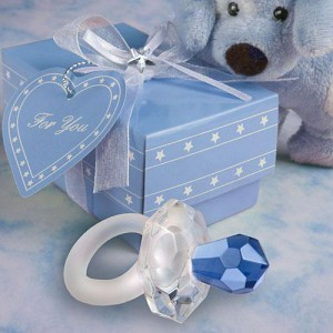 Choice Crystal Blue Pacifier Favors wedding favors