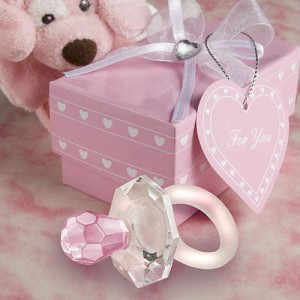 Choice Crystal Pink Pacifier Favors wedding favors