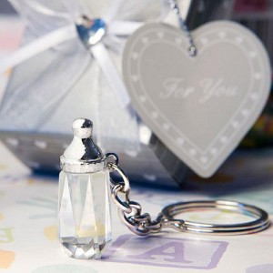 Choice Crystal Collection Baby Bottle Design Key Chain Favors wedding favors