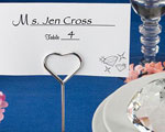 Choice Crystal Collection Heart Design Place Card Holders wedding favors