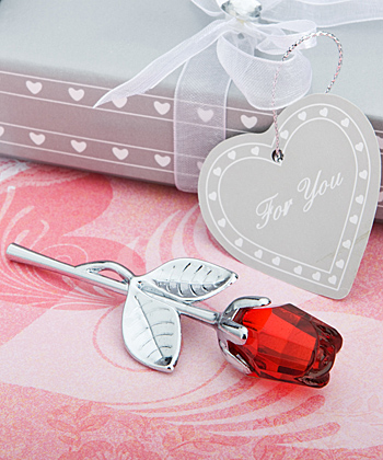 Choice Crystal Collection Red Rose Favors wedding favors