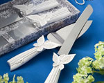 Butterfly Design Cake Knife/server Set wedding favors