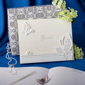 Butterfly Design Wedding Guest Book wedding favors