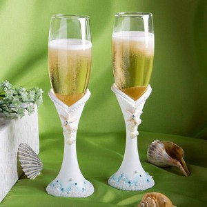 Finishing Touches Collection Beach Themed Champagne Flutes wedding favors