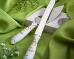 Finishing Touches Collection Beach Themed Wedding Cake Knife And Server Set wedding favors