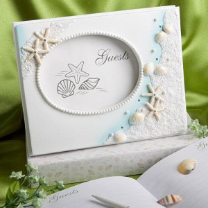 Finishing Touches Collection Beach Themed Wedding Guest Book wedding favors