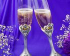 Royal Wedding Collection Crown Design Champagne Toasting Flutes wedding favors