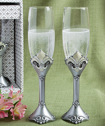 Fleur de Lis Collection - Toasting Flutes wedding favors