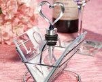 LOVE Design Coaster And Wine Bottle Stopper Sets wedding favors