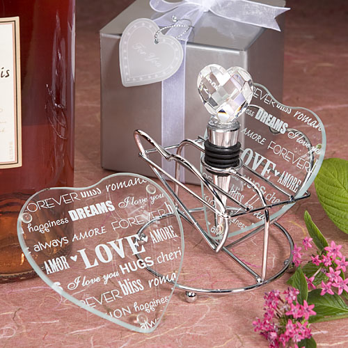 "words of love. ""Words Of Love"" Barware Set wedding favors"