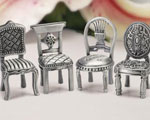 Pewter Chair Figurine Placecard Holders wedding favors