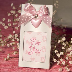 Pink Heart Design Picture Frames wedding favors
