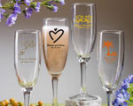 Champagne Flute wedding favors
