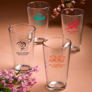 Personalized Pint Glasses wedding favors