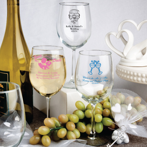 Personalized 12 Oz. Wine Goblet Favors wedding favors