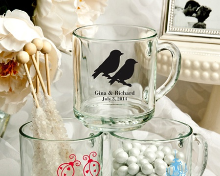 Personalized 10 Oz. Glass Handy Mug Favors wedding favors