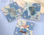 Baby Boy Glass Photo Coasters wedding favors