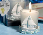 Nautical Themed Candles wedding favors