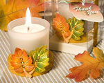 Leaf Design Candle Favors wedding favors