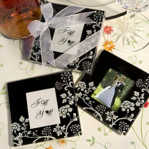 Distinctive Floral Design Photo Coaster Favors wedding favors