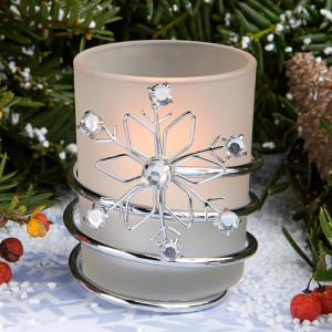 Snowflake Candles wedding favors