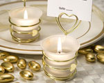 Heart Design Candle Favors/Place Card Holders wedding favors