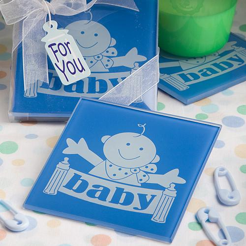 Blue Huggable Baby Design Coasters