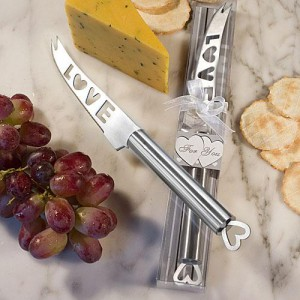 Amore Stainless Steel Cheese Knife Favors wedding favors