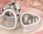 White Heart Mint Tin wedding favors