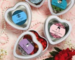 Personalized Expressions Collection White Heart Shaped Mint Tins wedding favors
