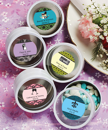Personalized Expressions Collection White Mint Tin Favors wedding favors