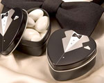 Dressed To The Nines - Tuxedo Mint Tin wedding favors