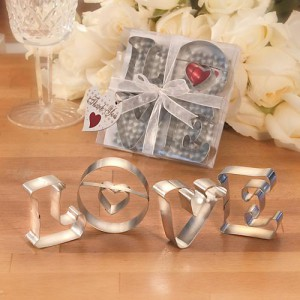 Love Cookie Cutters wedding favors
