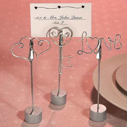 Love Design Place Card Holder Favors