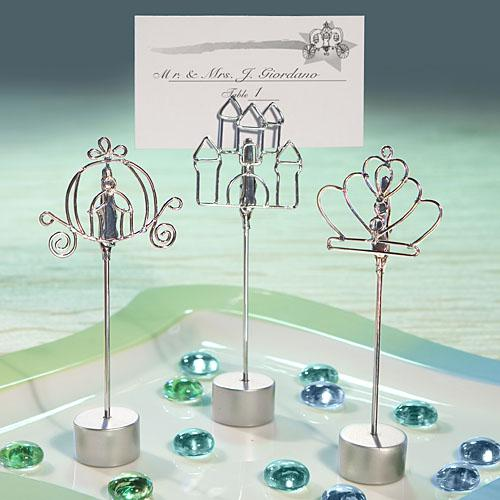 Cinderella-style Place Card Holder Favors