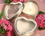 Light For Love Collection Heart Candle Favor Tins wedding favors